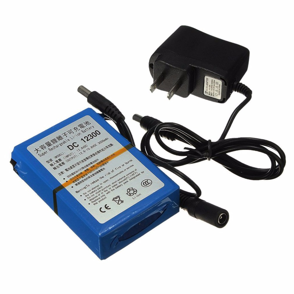 12V 3000mAh Rechargeable Li-ion Storage Battery LED Lamp Backup Power Standby Electrical Source