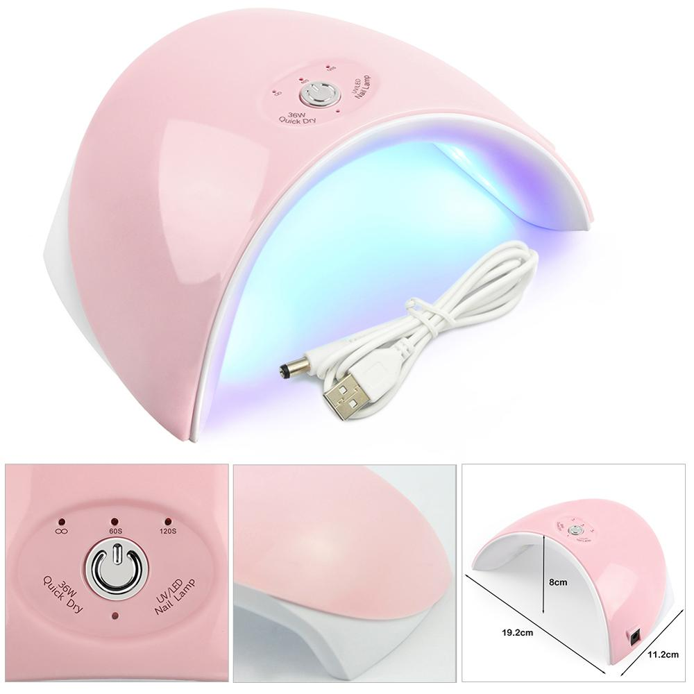 COSCELIA Double Source Light UV/LED Curing Lamp Nail Dryer 36W Lamp All For Manicure Drying All Gels Polish For Beginner