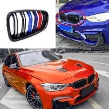 Calandre de course avant, 1 paire, couleur M, 1 ligne 2 lignes, pour BMW F30, F31, F35, 320i, 328i, 335i, 2012 2015, 2016, 2017