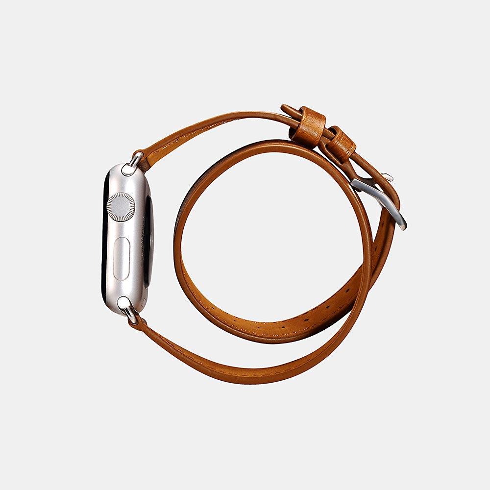 Icarer 2020 clássico pulseira de couro genuíno