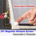 Adjustable DIY Magnetic Window Screen windows Removable Washable Invisible Fly Mosquito Screen Net Mesh Customize