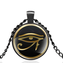 The Eye of Horus  Glass Dome Metal classic Necklace Vintage Men and Women Jewelry Gift
