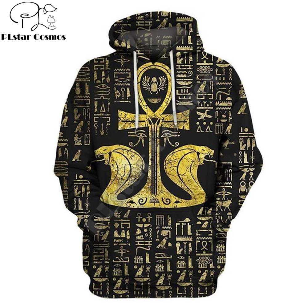 Eye of Horus Egyptian Cross Ankh Symbols 3D Print Men Hoodie Harajuku Fashion Hooded Sweatshirt Street Jacket Unisex hoodies