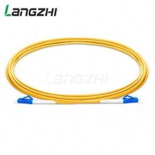 10 Pcs LC UPC כדי LC UPC סימפלקס 2.0mm 3.0mm PVC מצב יחיד סיבי תיקון כבל מגשר תיקון כבל fibra אופטיקה