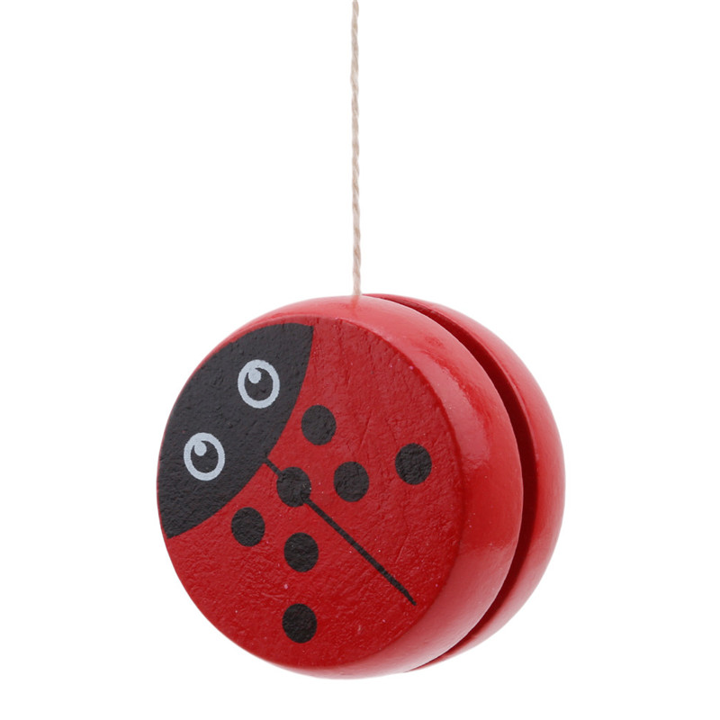 Cute Animal Prints Wooden Yoyo Toys Ladybug Toys Kids Yo-Yo Creative Yo Yo Toys For Children 5cm Wooden Yo Yo Ball