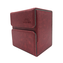 100+ TCG Deck Case for Magic/Pokemon/YuGiOh Card Box Dices : Wine Red