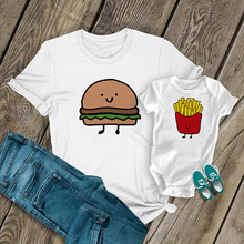 Matching T-Shirt Mom Baby New Mom French 1PC Tops Hamburger Perfect-Combination Fries