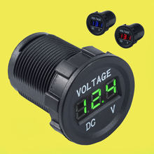 12V 24V Auto Led Display Modified Car Charger Adapter Motorcycle Voltmeter for Car Boat Marine(China)