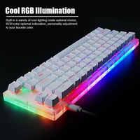 Gamakay-Teclado mecánico para jugar Teclado mecánico intercambiable con teclas K66, cable tyce-c, interruptor Gateron retroiluminado RGB, Base cristalina para PC y portátil