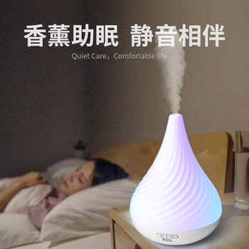 Mute Electric Incense Burner Ultrasonic Air Humidifier Bedroom Night Light Aroma Essential Porta Incenso Home Decor New MM60XXL