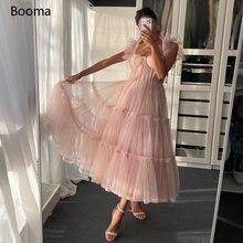 Booma простые розовые платья для выпускного вечера на тонких