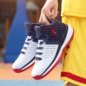 2020 męskie obuwie do koszykówki wysokiej jakości buty sportowe wygodne oddychające antypoślizgowe męskie buty sportowe Casual trening sportowy buty tanie i dobre opinie KevinSmith CN (pochodzenie) Średnie (b m) RUBBER Cotton Fabric Skręcanie Lace-up Spring2019 Pasuje prawda na wymiar weź swój normalny rozmiar