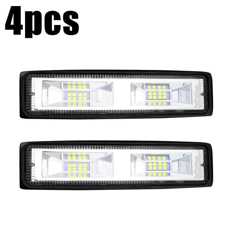 4pcs 6Inch 48W 16LED Work Lights Flood Beam Bar Car SUV Off-Road Driving Fog Lamp Waterproof 4800LM IP68 6000K