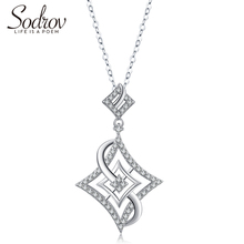 Sodrov 925 Sterling Silver Classic Chain Necklace Trendy Elegant Fine Jewelry for Women elegant silver 925 jewelry classic temperament wedding necklace 6mm shell pearl highlight925 sterling silver chain for women