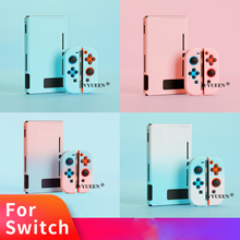 IVYUEEN ที่มีสีสันป้องกันกรณีสำหรับ Nintendo สวิทช์คอนโซล NS สีเขียวสำหรับ Nintendo SWITCH Joy CON Joy CON กลับเปลือกแข็ง