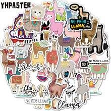 10/30/50 pçs cartonn bonito llama alpaca animais adesivos para portátil bagagem motocicleta telefone skate brinquedos carro diário pegatinas