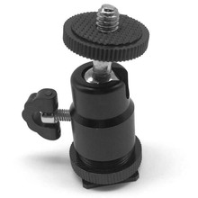 New 1/4 Black Ball Tripod  Bracket/Holder/Mount For Camera Hot Shoe Adapter