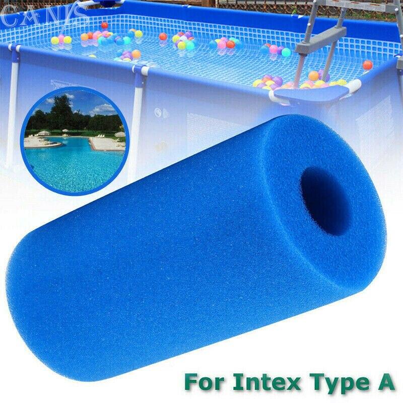 Lifreer 4 paquetes de esponja de filtro de piscina negra reutilizable lavable de repuesto de espuma de repuesto para Intex S1 tipo