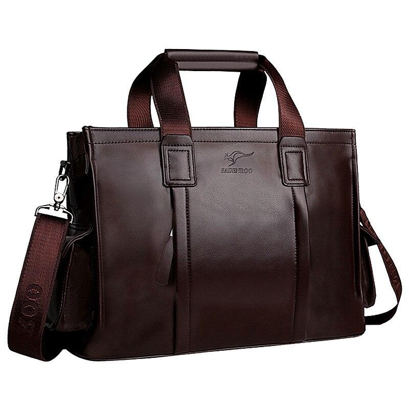 New Luxury Split Leather Business Men's Briefcase Male Fashion Shoulder Bag Men Messenger Bag Boy Tote Computer Bag 14 Inch