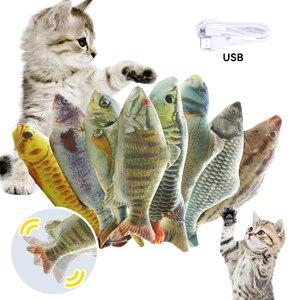 Animal de estimação macio recheado animal de estimação peixe em forma de brinquedo do gato presentes interativos animal de estimação brinquedo de imitação de peixe travesseiro