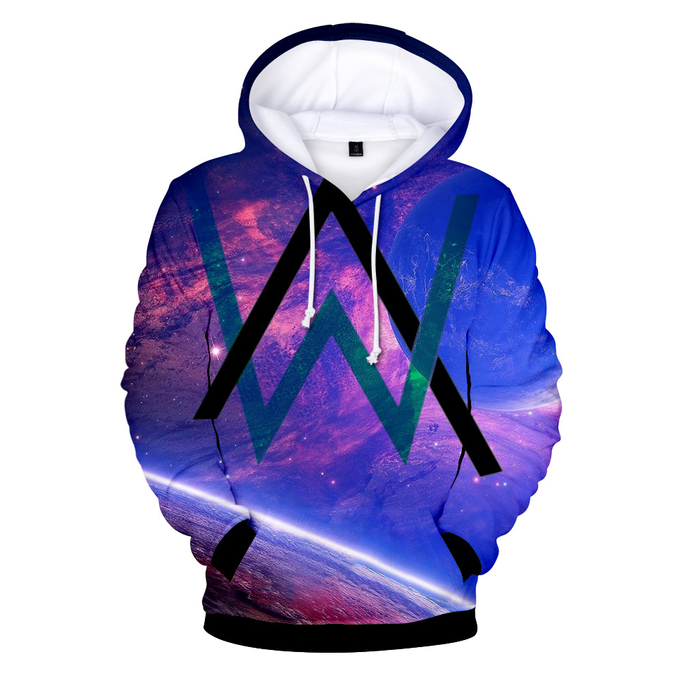 2018 European And American-Style Stylish New Style Alan Walker Allen Walker 3D Digital Printed Stylish Hooded Hoodie