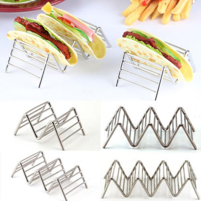 Pie Tools Wave Shape Stainless Steel Taco Holders Mexican Food Rack Pizza Tool Restaurant Food Show Kitchen Tools
