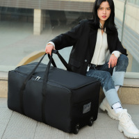 Unisex Universal Rad Reisetasche Große Kapazität Duffle Durable Oxford Einfache Multifunktions Handtasche Gepäck Koffer XA573F