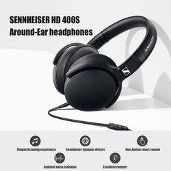 SENNHEISER HD 400S Around-Ear Headphones Headsets with Mic Wired Over Ear Headphones with Mic Foldable for Phone PC Laptop