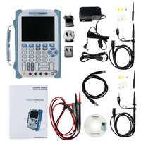 Hantek-osciloscopio DSO8060 60, 60M, juego de herramientas de Kit de osciloscopio Digital, osciloscopio con mango, enchufe para UE y EE. UU., totalmente montado