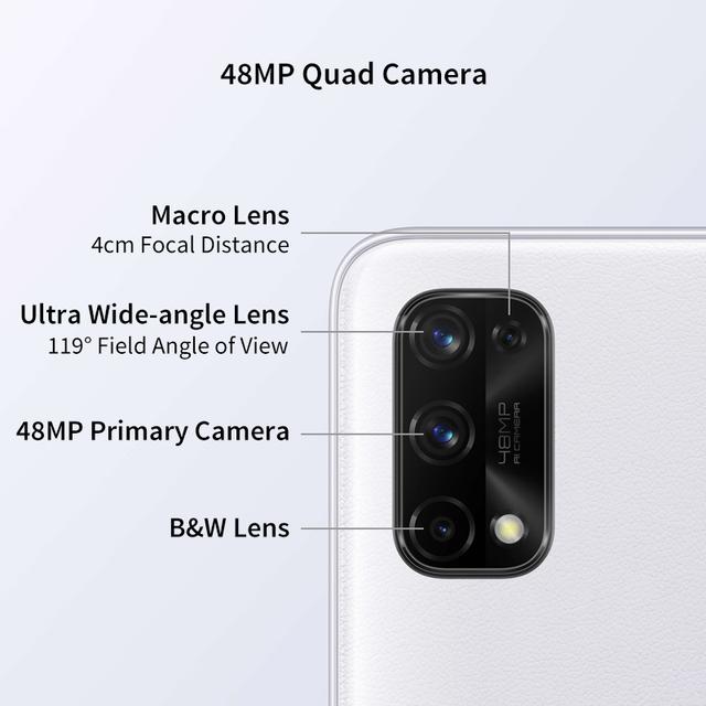 Realme Q2 Pro Smartphone 8GB 256GB 6.4'' 4300mAh 65W Fast Charger Dimensity 800U Octa Core  48MP AI Quad Camera  5G Cellphone 3