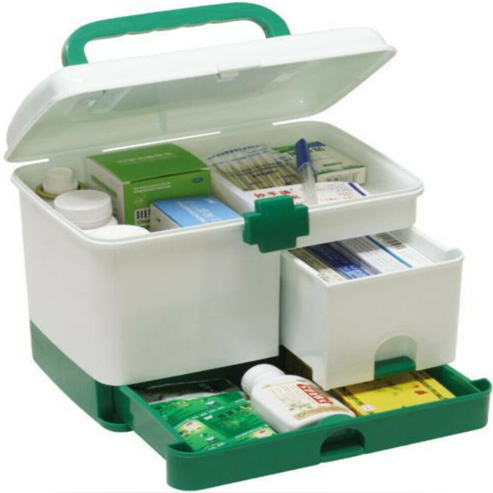 Plastic First Aid Kit Medical Box Large Storage Box For Medicine Organizer Medicine Chest Emergency Container Home Medical Kit