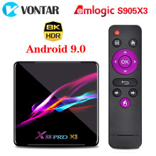 X88 PRO X3 Android 9,0 TV Box Amlogic S905X3 4GB 128GB 1080p 8K Dual Wifi reproductor de Google Youtube voz receptor inteligente