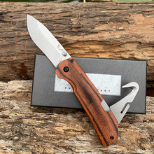 Butterfly 16050 Hunting Folding Knife fine color wood Handle  9CR14MoV tactical outdoor EDC broken windows on vehicles help tool