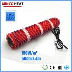 Minco Wärme 4m x 50cm 230V 150 W/m2 Warme Matte Unter Boden Heizung Fluorpolymer Isoliert 20 jahre Garantie