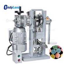CandyLand THDP 3 Single Punch Sugar Tablet Press Die Machine Pressing Machine Motor Driven and Handle Candy Stamping Maker