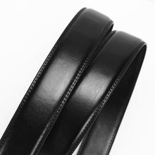 Second Layer Cowhide Real Leather Belt Litchi Texture Male for Automatic Buckle Mens