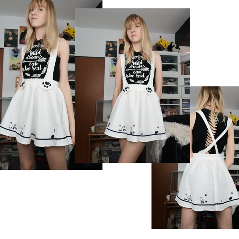 Lolita Kitty Suspender Skirt 2