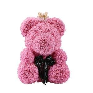 Image 3 - 2020 저렴 한 빨간 곰 로즈 테 디 베어 장미 꽃 인공 장식 생일 크리스마스 선물 여자 발렌타인 선물