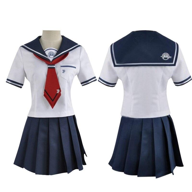 Absolute Verzweiflung Mädchen Eine Weitere Episode Naegi Komaru Danganronpa Cosplay Kostüm Erwachsene Frauen Sailor Anzug Rock Rote Krawatte Halloween