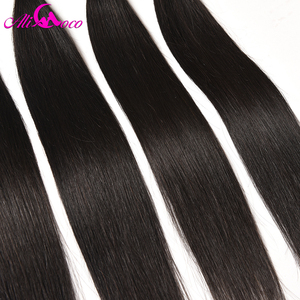 Image 5 - Ali Coco Brazilian Straight Hair 4 Bundles 100% Human Hair 8 28 inch Brazilian Hair Weave Bundles Non Remy Hair Extensions