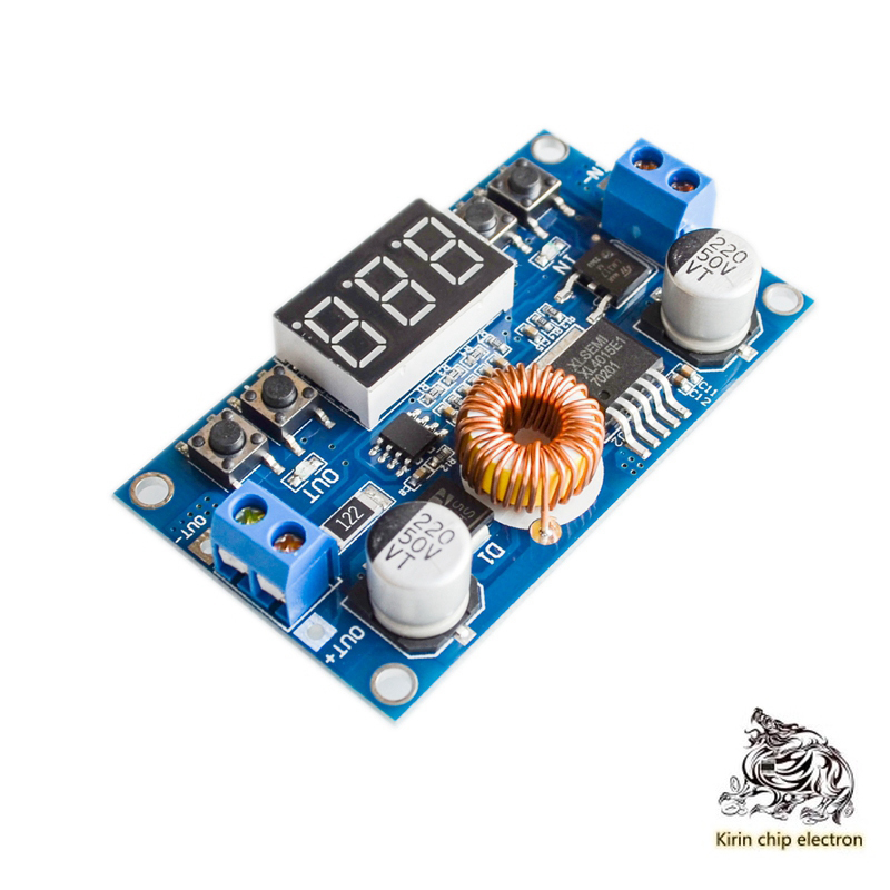 2pcs/lot 5A Buck Module CNC Power Supply CNC Buck With Voltage Meter DCDC Can Lower The Voltage Module High Power