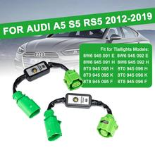2Pcs Dynamic Turn Signal Indicator LED Taillight Module Cable Wire Harness For Audi A5 S5 RS5 2012-2019 Left & Right Tail Light