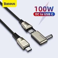 Baseus 100ワットusb c dc電源ケーブルusb c cラウンド/スクエアdc電源高速充電ケーブル用ハブデータケーブル