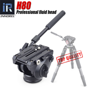 INNOREL H80 Hydraulic Fluid Tripod Head Panoramic Video for Camera Tripod Monopod Slider Stabilizer with Quick Release Plate kingjoy official vt 1510 panoramic tripod head hydraulic fluid video head for tripod and monopod camera holder stand slr dslr