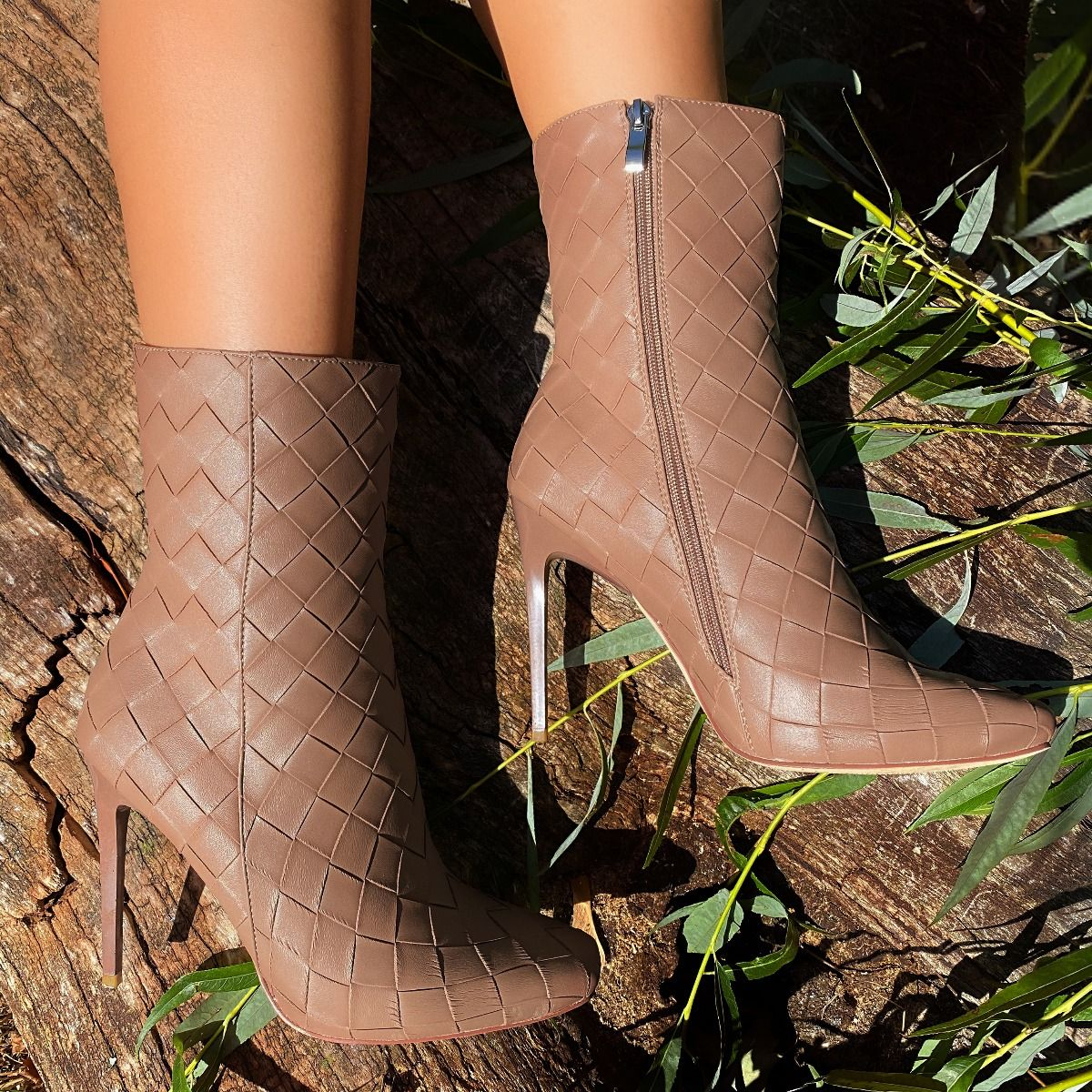 Women Boots PU Leather Zipper Retro Casual Womans Booties Gladiator High Heel Shoes Ladies Fashion Botas Mujer Invierno TW669