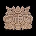 Деревянные статуэтки деревянная аппликация деревянная Декаль Onlay ретро изысканный декоративный длинный большой цветок деревянный шкаф уг...