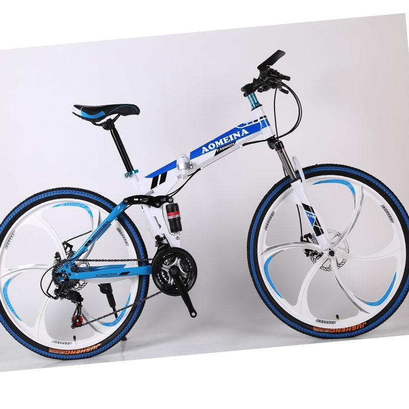 velocidade variável dupla amortecedor estudante corrida cross-country bicicleta.