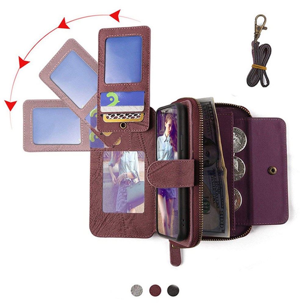 MEGSHI-SanDai multifungsi kulit telepon kasus untuk Samsung A51 A71 - Aksesori dan suku cadang ponsel - Foto 5