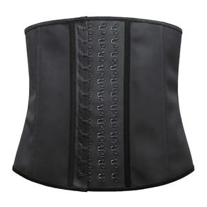 Image 4 - ผู้หญิงShapewear Extra Strong Latexเอวเทรนเนอร์การออกกำลังกายนาฬิกาทรายเข็มขัดเอวCincher TrimmerลำตัวยาวFajas 9กระดูกเหล็ก