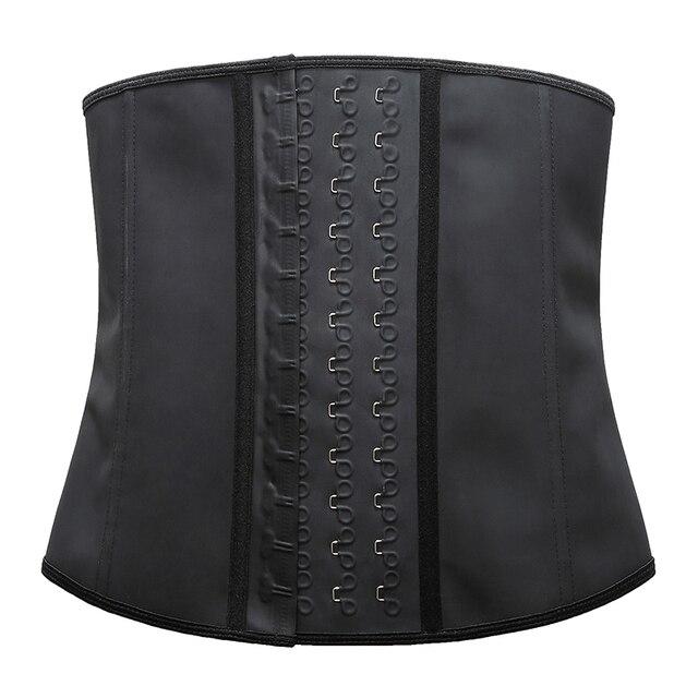 Women's Shapewear Extra Strong Latex Waist Trainer Workout  Hourglass Belt Waist Cincher Trimmer Long Torso Fajas 9 Steel Bone 3